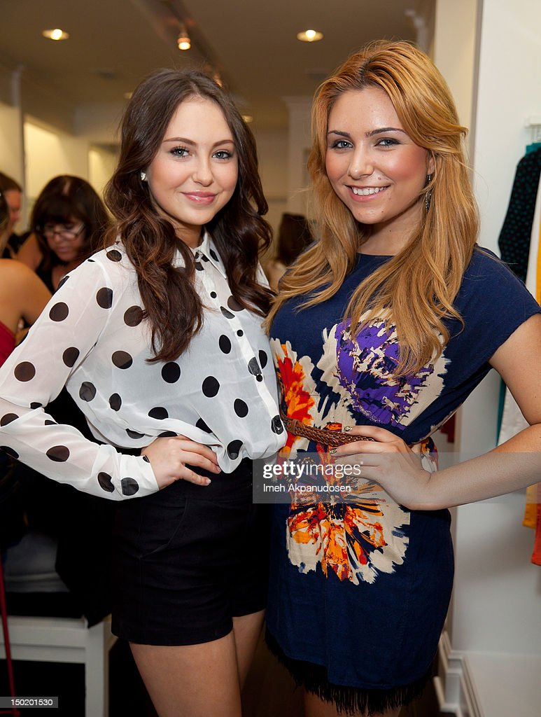 Recording artist Temara Melek (L) and actress Julianna Rose attend the Teen Vogue Back-To-School Event & Madison t Boutique Launch Party on August 11, 2012 in Pacific Palisades, California.