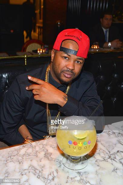 Recording artist Terius 'TheDream' Nash dines at the Sugar Factory American Brasserie at the Paris Las Vegas on October 26 2013 in Las Vegas Nevada