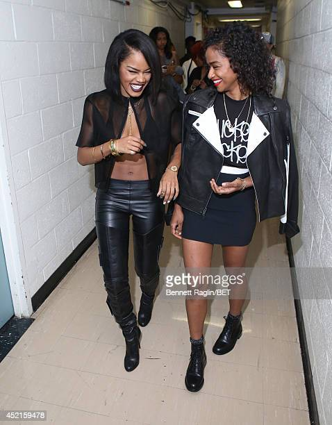 Recording artist Teyana Taylor and Vashtie visit 106 Park at Bet studio on July 14 2014 in New York City