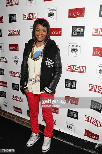 Recording artist Teyana Taylor attends Omarion's 'Face Off' listening party sponsored by ENSM events at Home on December 11 2007 in New York City New...