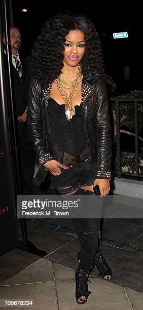 Recording artist Teyana Taylor attends the premiere of the film 'Runaway' at the Harmony Gold Preview House on October 18 2010 in Los Angeles...