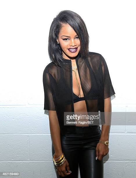 Recording artist Teyana Taylor visits 106 Park at Bet studio on July 14 2014 in New York City