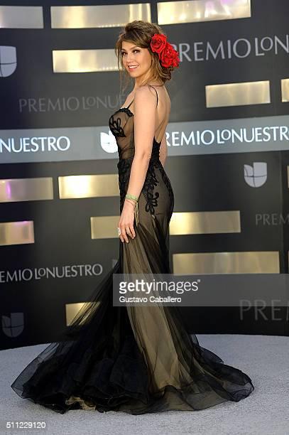 Recording artist Thalía attends Univision's 28th Edition of Premio Lo Nuestro A La Musica Latina on February 18 2016 in Miami Florida