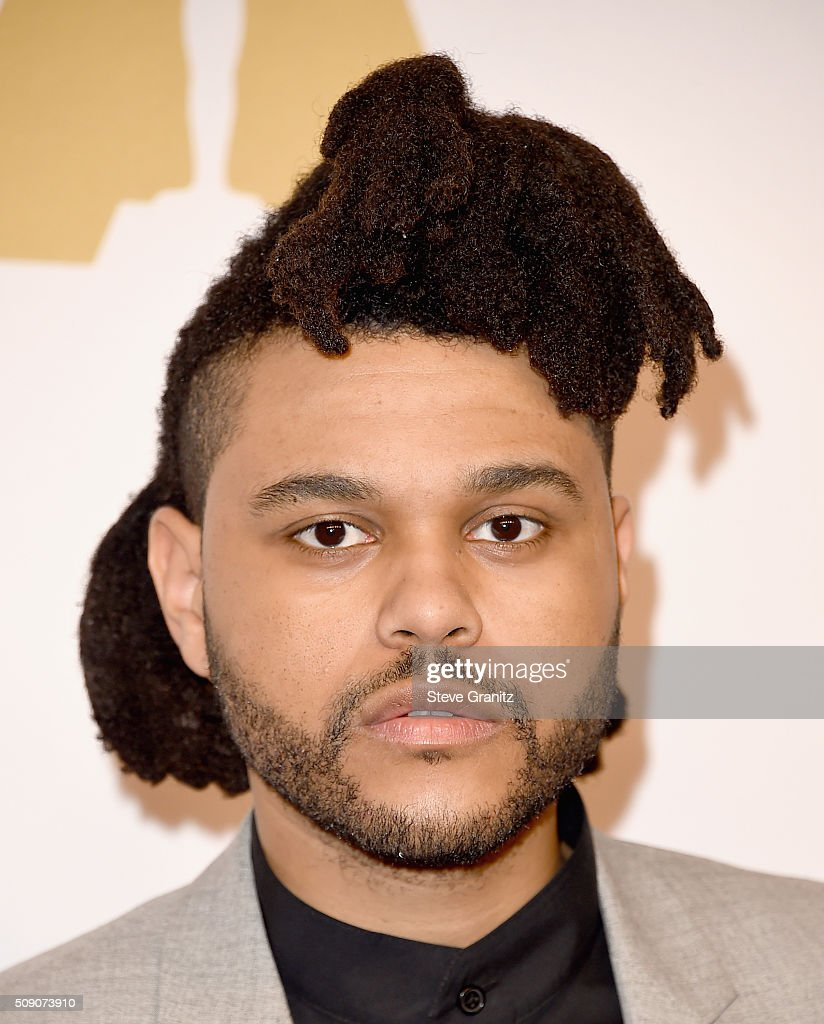 Recording artist <a gi-track='captionPersonalityLinkClicked' href=/galleries/search?phrase=The+Weeknd+-+Musicien&family=editorial&specificpeople=8008743 ng-click='$event.stopPropagation()'>The Weeknd</a> attends the 88th Annual Academy Awards nominee luncheon on February 8, 2016 in Beverly Hills, California.