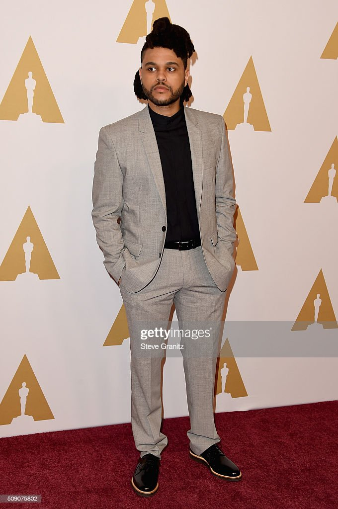 Recording artist The Weeknd attends the 88th Annual Academy Awards nominee luncheon on February 8, 2016 in Beverly Hills, California.