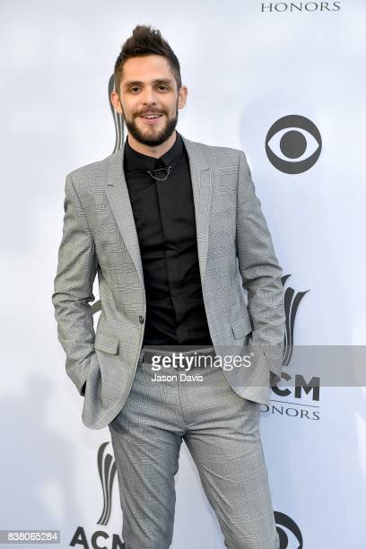 Recording Artist Thomas Rhett arrives at the 11th Annual ACM Honors at Ryman Auditorium on August 23 2017 in Nashville Tennessee