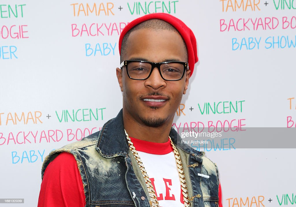 Recording Artist T.I. attends Tamar Braxton's carnival themed baby shower at the Hotel Bel-Air on May 5, 2013 in Los Angeles, California.
