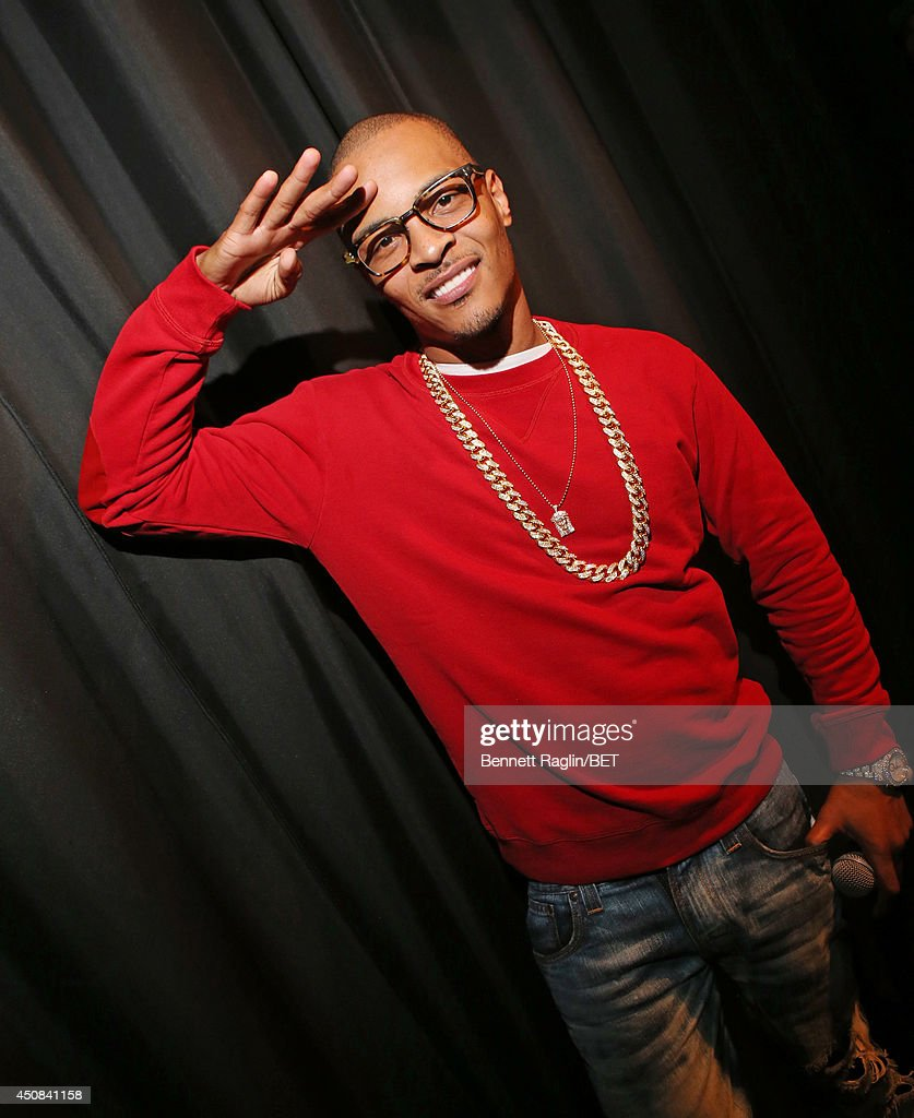 Recording artist T.I. visits 106 & Park at BET studio on June 18, 2014 in New York City.