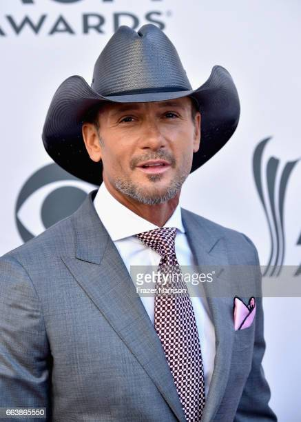Recording artist Tim McGraw attends the 52nd Academy Of Country Music Awards at Toshiba Plaza on April 2 2017 in Las Vegas Nevada