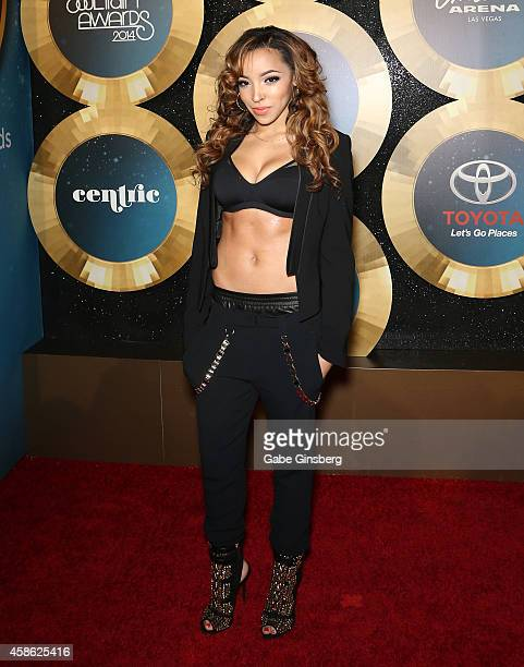 Recording artist Tinashe arrives at the 2014 Soul Train Music Awards at the Orleans Areana on November 7 2014 in Las Vegas Nevada