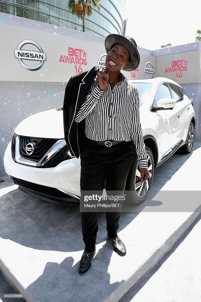 Recording artist Tish Hyman attends the Nissan red carpet during the 2016 BET Awards at the Microsoft Theater on June 26, 2016 in Los Angeles, California.