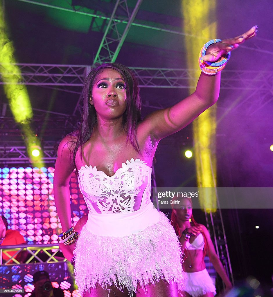 Recording artist Tiwa Savage performs onstage at 2016 Passport Experience Festival at Centennial Olympic Park on August 13 2016 in Atlanta Georgia
