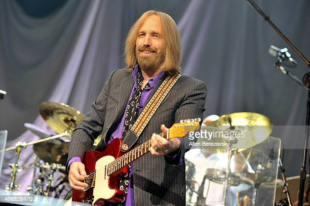 Recording artist Tom Petty of Tom Petty and The Heartbreakers performs at Honda Center on October 7 2014 in Anaheim California