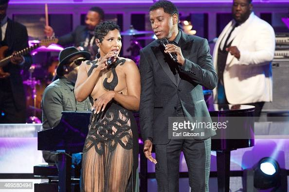 Recording Artist Toni Braxton and Kenneth 'Babyface' Edmonds perform at the UNCF An Evening Of Stars Show at Boisfeuillet Jones Atlanta Civic Center...