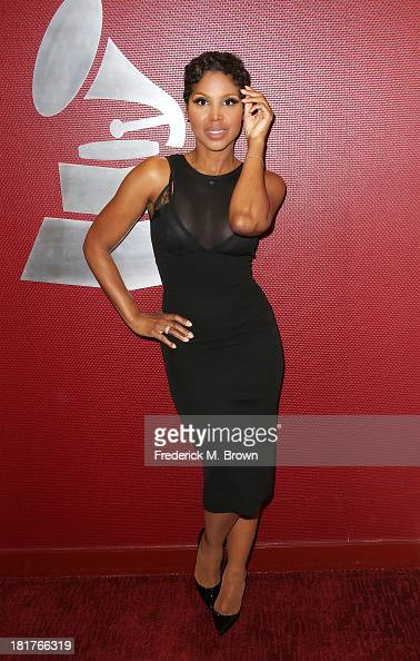 Recording artist Toni Braxton attends A Conversation with Toni Braxton and Kenny 'Babyface' Edmonds at The Recording Academy on September 24 2013 in...