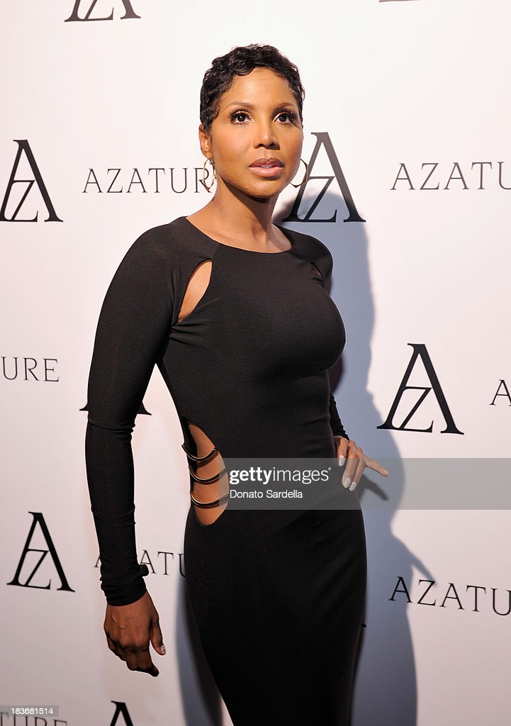 Recording artist <a gi-track='captionPersonalityLinkClicked' href=/galleries/search?phrase=Toni+Braxton&family=editorial&specificpeople=213737 ng-click='$event.stopPropagation()'>Toni Braxton</a> attends The Black Diamond Affair with A Z A T U R E at Sunset Tower on October 8, 2013 in West Hollywood, California.
