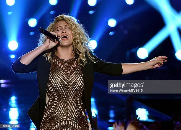 Recording artist Tori Kelly performs onstage during the 2015 MTV Video Music Awards at Microsoft Theater on August 30 2015 in Los Angeles California