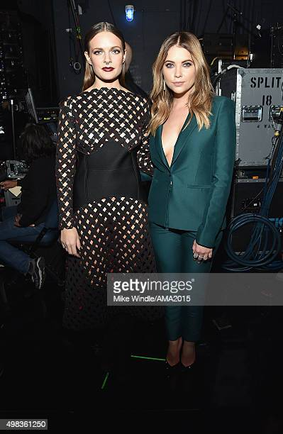 Recording artist Tove Lo and actress Ashley Benson attend the 2015 American Music Awards at Microsoft Theater on November 22 2015 in Los Angeles...
