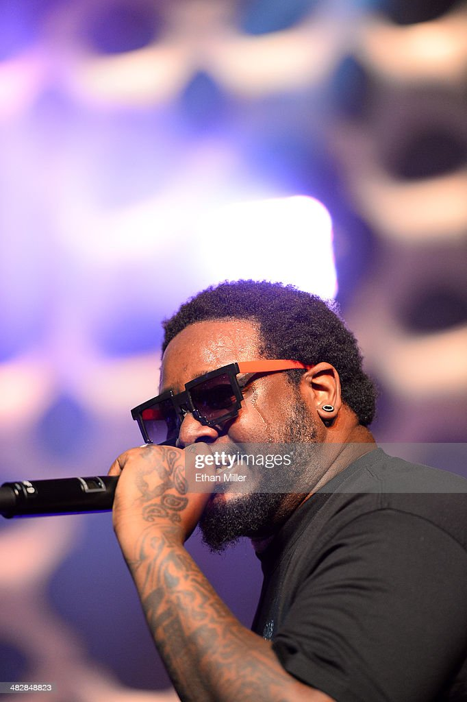 Recording artist <a gi-track='captionPersonalityLinkClicked' href=/galleries/search?phrase=T-Pain&family=editorial&specificpeople=1223407 ng-click='$event.stopPropagation()'>T-Pain</a> performs at the 13th annual Michael Jordan Celebrity Invitational gala at the ARIA Resort & Casino at CityCenter on April 4, 2014 in Las Vegas, Nevada.