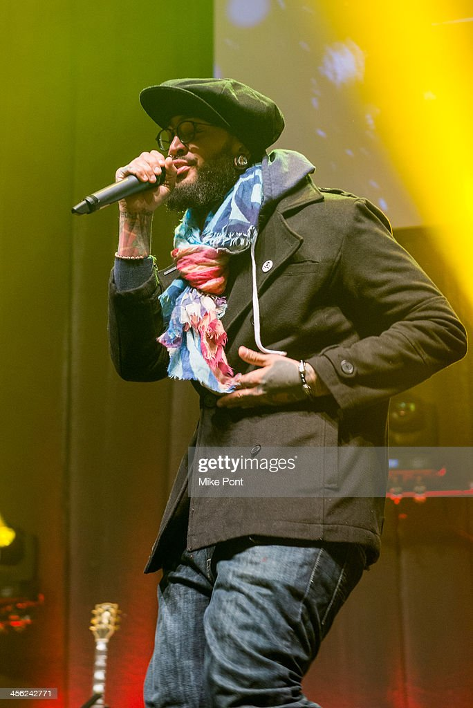 Recording Artist <a gi-track='captionPersonalityLinkClicked' href=/galleries/search?phrase=Travie+McCoy&family=editorial&specificpeople=4979725 ng-click='$event.stopPropagation()'>Travie McCoy</a> performs at the Z100 & Coca-Cola All Access Lounge at Hammerstein Ballroom on December 13, 2013 in New York City.