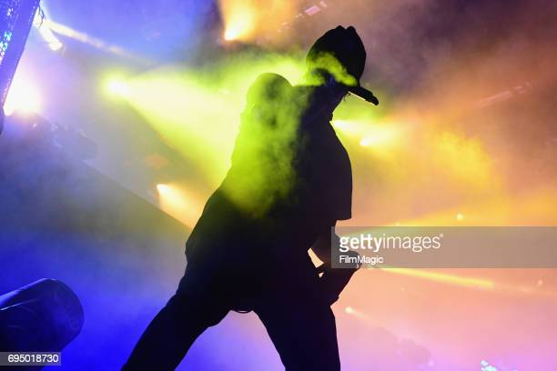 Recording artist Travis Scott performs onstage at Which Stage during Day 4 of the 2017 Bonnaroo Arts And Music Festival on June 11 2017 in Manchester...