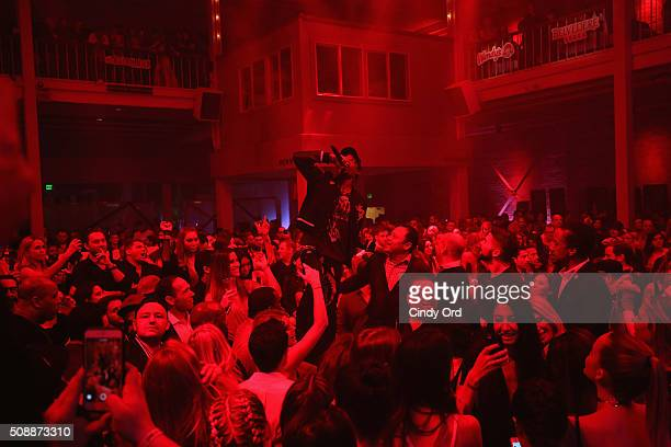 Recording artist Travis Scott performs onstage during Rolling Stone Live SF with Talent Resources on February 7 2016 in San Francisco California