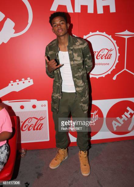 Recording artist Trevor Jackson attends day 1 of the Fan Fest CocaCola World of AHH during the 2014 BET Experience At LA LIVE on June 28 2014 in Los...