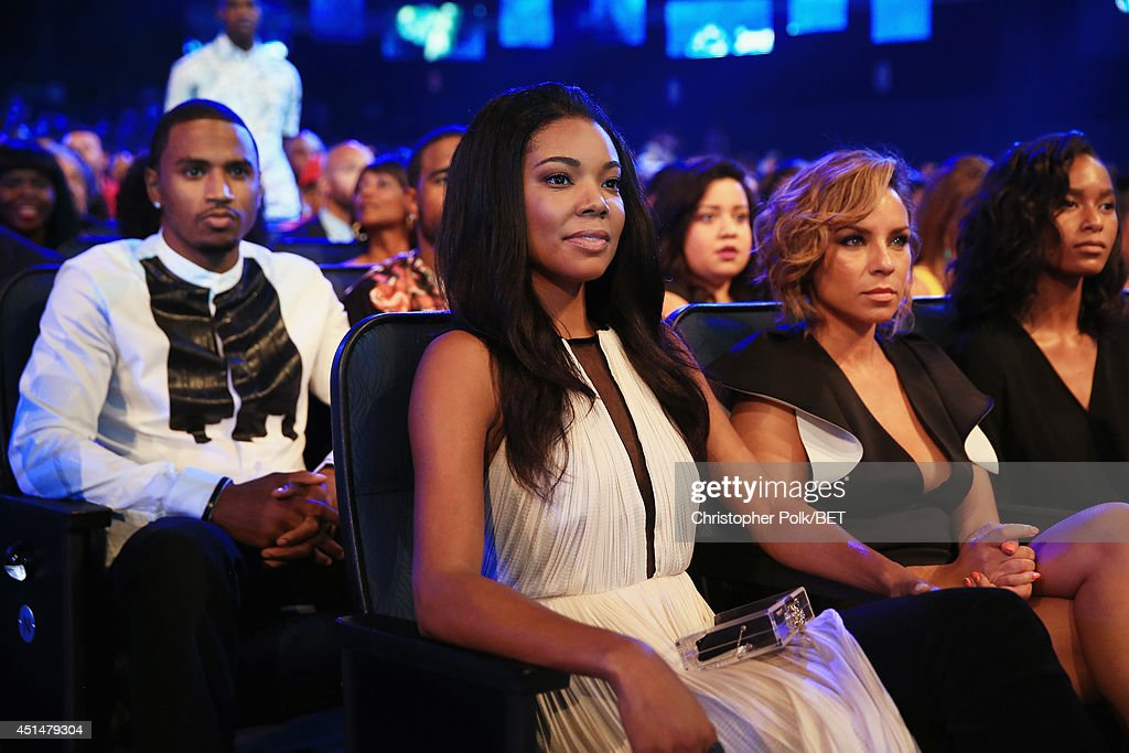 Recording artist Trey Songz (L) and actress Gabrielle Union attend the BET AWARDS '14 at Nokia Theatre L.A. LIVE on June 29, 2014 in Los Angeles, California.