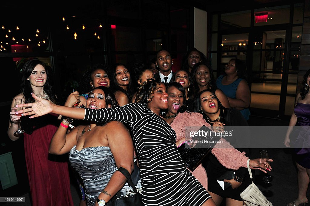 Recording Artist <a gi-track='captionPersonalityLinkClicked' href=/galleries/search?phrase=Trey+Songz&family=editorial&specificpeople=674835 ng-click='$event.stopPropagation()'>Trey Songz</a> and Fans pose for photo at his Birthday party And Host a Evening Benefitting 'Angels With Heart Foundation Month' at Le Meridien Atlanta Perimeter Hotel on November 24, 2013 in Atlanta, Georgia.