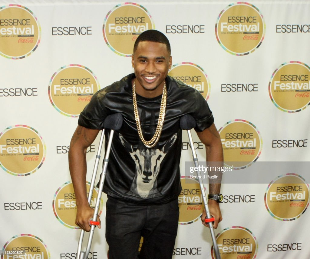 Recording artist <a gi-track='captionPersonalityLinkClicked' href=/galleries/search?phrase=Trey+Songz&family=editorial&specificpeople=674835 ng-click='$event.stopPropagation()'>Trey Songz</a> attends the 2013 Essence Festival at the Mercedes-Benz Superdome on July 6, 2013 in New Orleans, Louisiana.