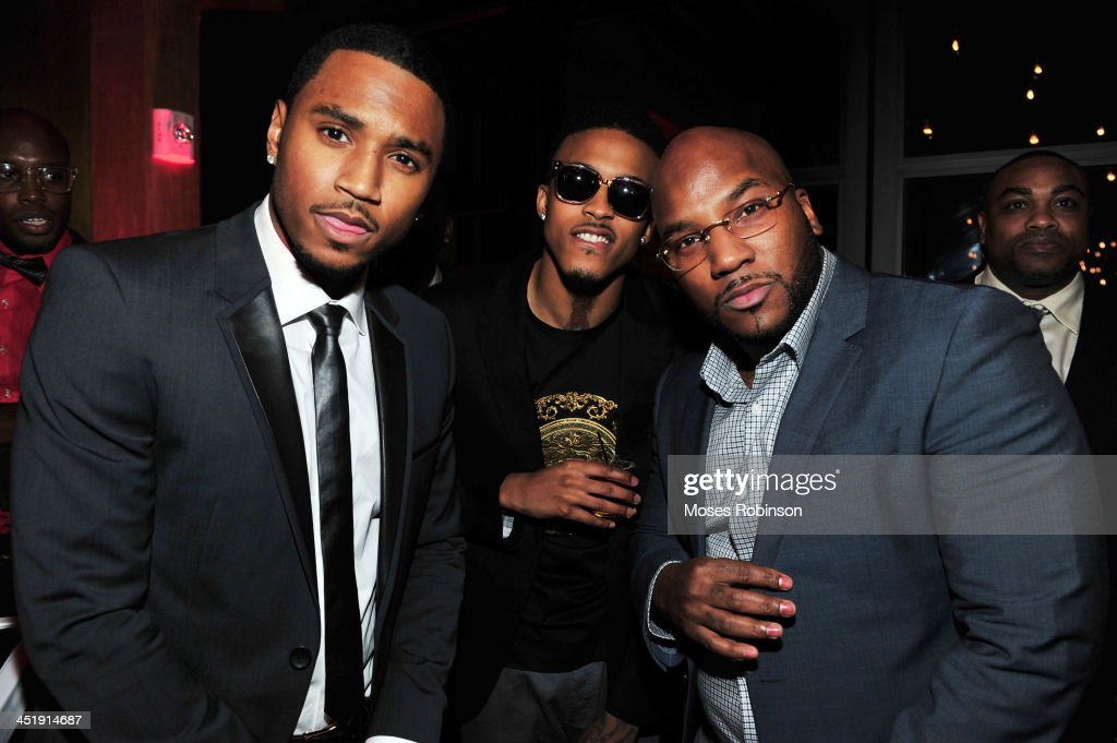Recording Artist <a gi-track='captionPersonalityLinkClicked' href=/galleries/search?phrase=Trey+Songz&family=editorial&specificpeople=674835 ng-click='$event.stopPropagation()'>Trey Songz</a>, Guest and recording artist <a gi-track='captionPersonalityLinkClicked' href=/galleries/search?phrase=Young+Jeezy&family=editorial&specificpeople=537540 ng-click='$event.stopPropagation()'>Young Jeezy</a> attend <a gi-track='captionPersonalityLinkClicked' href=/galleries/search?phrase=Trey+Songz&family=editorial&specificpeople=674835 ng-click='$event.stopPropagation()'>Trey Songz</a> Birthday Party And Host a Evening Benefitting 'Angels With Heart Foundation Month' at Le Meridien Atlanta Perimeter Hotel on November 24, 2013 in Atlanta, Georgia.