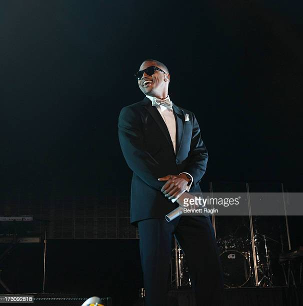 Recording artist Trey Songz performs during the 2013 Essence Festival at the MercedesBenz Superdome on July 6 2013 in New Orleans Louisiana