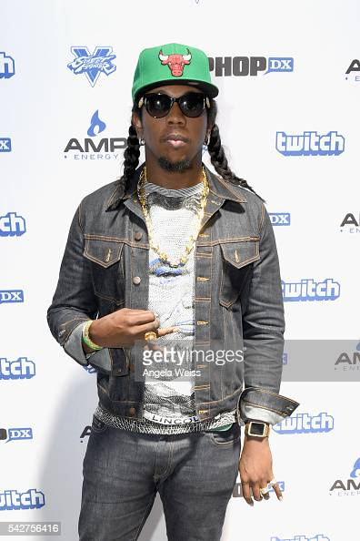 Recording artist Trinidad James attends Next Level Presented By AMP Energy A Hip Hop Gaming Tournament at Rostrum Records on June 23 2016 in Los...