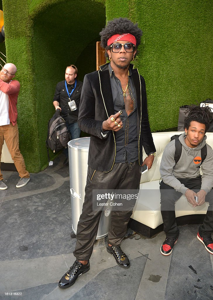 Recording artist Trinidad James attends Universal Music Group Showcase '13 Backstage at Lure on February 9, 2013 in Hollywood, California.