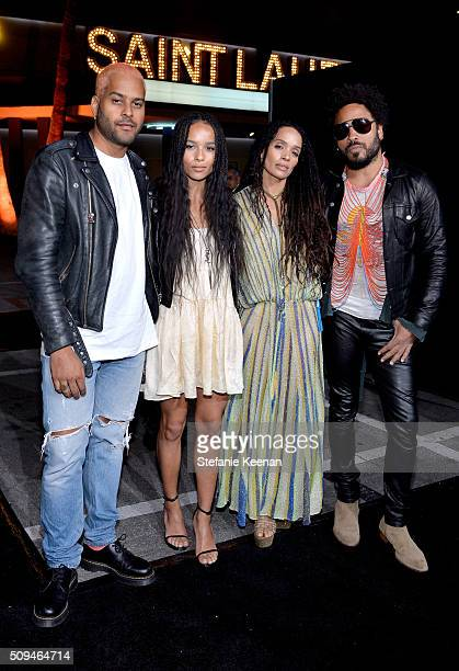 Recording artist Twin Shadow actors Zoë Kravitz in Saint Laurent by Hedi Slimane Lisa Bonet and recording artist Lenny Kravitz attend Saint Laurent...