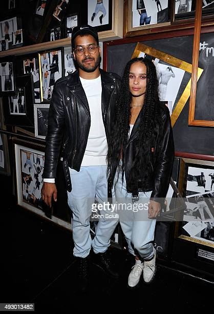 Recording artist Twin Shadow and actress Zoe Kravitz attend the Calvin Klein Jeans hosted music event in Los Angeles to celebrate the fall 2015 ad...