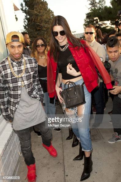 Recording artist Tyga and television personality Kendall Jenner attend the Exclusive Press Preview Of Tyga's Last Kings Flagship Store On Melrose Ave...
