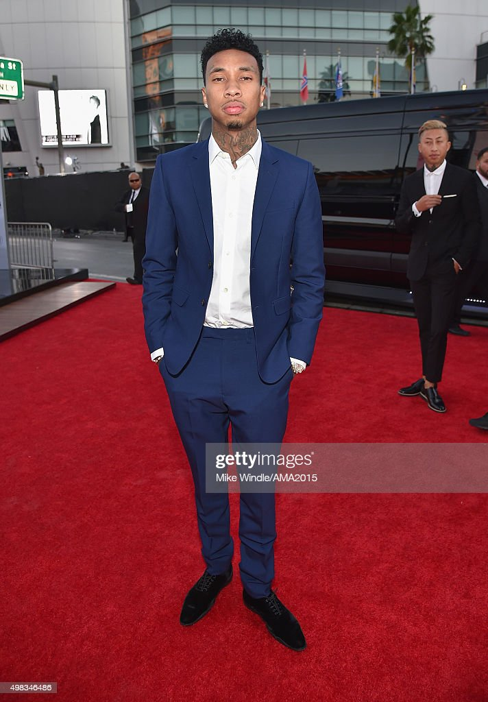 Recording artist Tyga attends the 2015 American Music Awards at Microsoft Theater on November 22 2015 in Los Angeles California