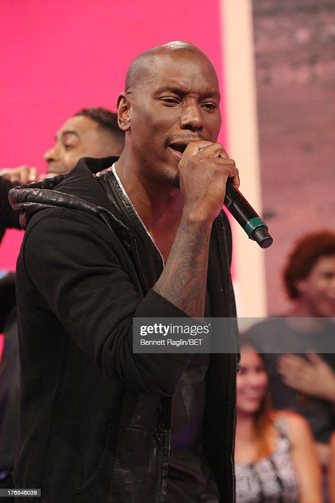 Recording artist <a gi-track='captionPersonalityLinkClicked' href=/galleries/search?phrase=Tyrese&family=editorial&specificpeople=206177 ng-click='$event.stopPropagation()'>Tyrese</a> performs during 106 & Park at 106 & Park Studio on August 19, 2013 in New York City.