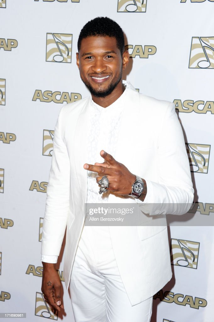 Recording artist Usher arrives at ASCAP's 26th Annual Rhythm & Soul Music Awards at The Beverly Hilton Hotel on June 27, 2013 in Beverly Hills, California.