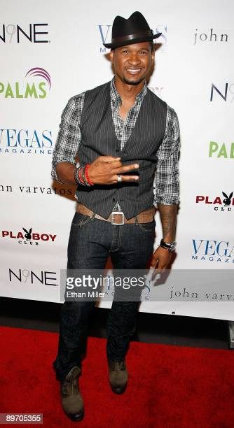 Recording artist Usher arrives at the Playboy Club at the Palms Casino Resort to host a party for the July/August issue of Vegas Magazine August 7...