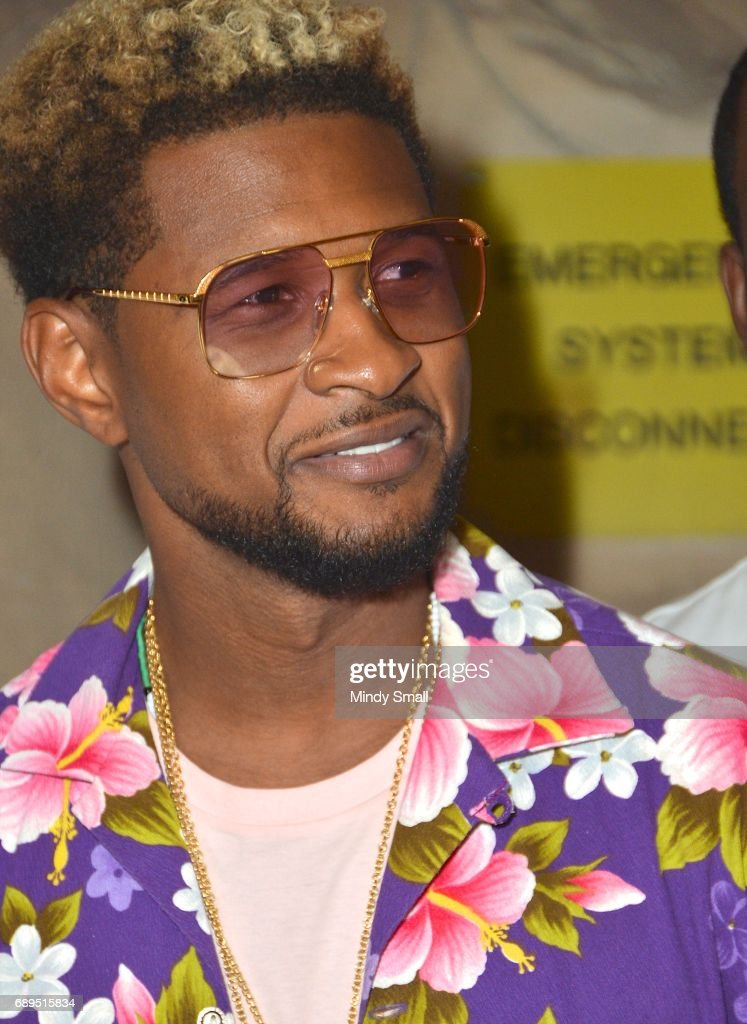 Recording artist Usher arrives at the Rehab Beach Club pool party at the Hard Rock Hotel & Casino on May 28, 2017 in Las Vegas, Nevada.