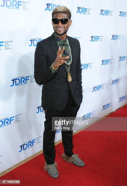 Recording artist Usher attends JDRF LA Chapter's Imagine Gala at The Beverly Hilton Hotel on April 22 2017 in Beverly Hills California