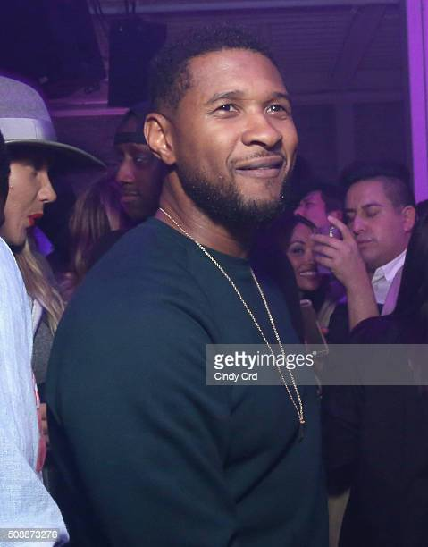 Recording artist Usher attends Rolling Stone Live SF with Talent Resources on February 7 2016 in San Francisco California