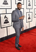 Recording artist Usher attends The 57th Annual GRAMMY Awards at the STAPLES Center on February 8 2015 in Los Angeles California