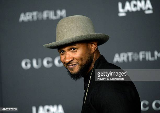 Recording artist Usher attends the LACMA Art Film Gala honoring Alejandro G Iñárritu and James Turrell and presented by Gucci at LACMA on November 7...