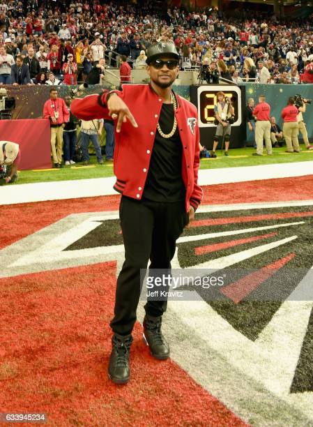 Recording artist Usher attends the Super Bowl LI Pregame Show at NRG Stadium on February 5 2017 in Houston Texas