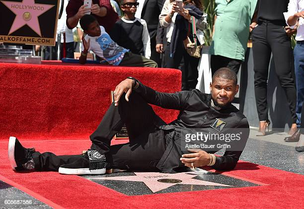 Recording artist Usher is honored with a star on the Hollywood Walk of Fame on September 7 2016 in Hollywood California