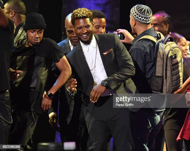 Recording artist Usher onstage at 2017 Andrew Young International Leadership Awards and 85th Birthday Tribute at Philips Arena on June 3 2017 in...
