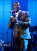 Recording artist Usher onstage at the 55th Annual GRAMMY Awards PreGRAMMY Gala and Salute to Industry Icons honoring LA Reid held at The Beverly...